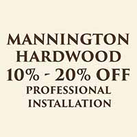 10% - 20% off Mannington hardwood flooring during our Fall Home Makeover Sale