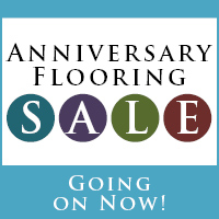 Anniversary Flooring Sale going on now! Stop by today!
