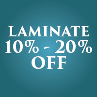 Take 10% - 20% off laminate flooring during our Anniversary Flooring Sale