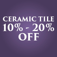 Take 10% - 20% off ceramic tile during our Anniversary Flooring Sale