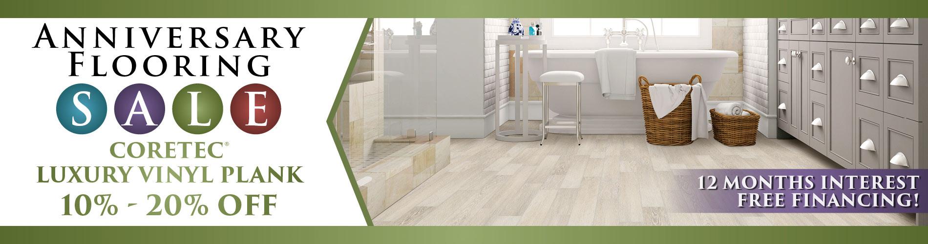 Coretec luxury vinyl plank 10%-20% off